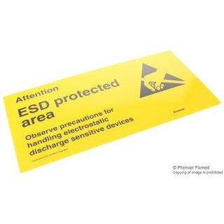 DESCO EUROPE (FORMERLY VERMASON) 229125 SIGN,STATIC CAUTION