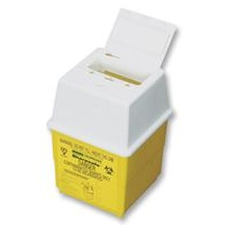 SAFETY FIRST AID GROUP Q2049 SHARPS BOX, 1LTR